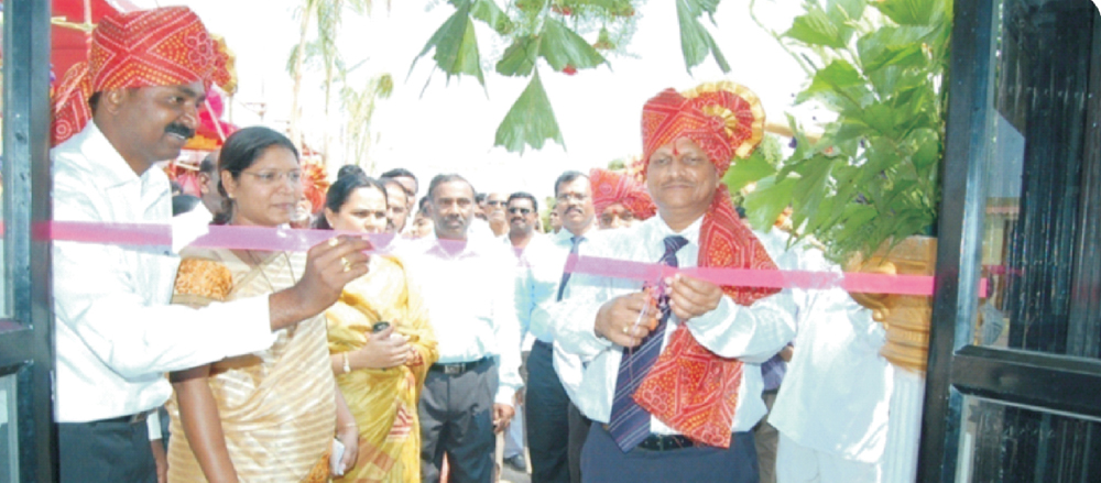 On 23/3/20 11 while inauguration training center with general manager of bank of baroda and D.G.M. Nabard.